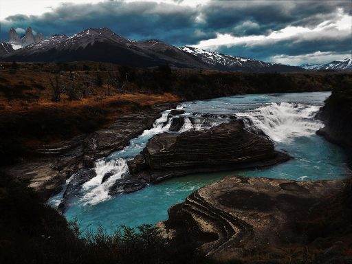 A river bed, which is, according to locals, as good as dry in comparison to its state in previous years. The water level has dropped dramatically in all the lakes and rivers around Torres del Paine.